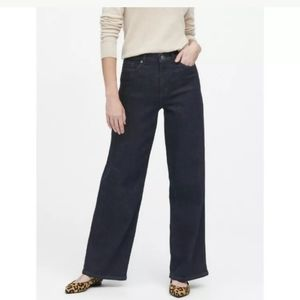 Banana Republic Urban Wide Leg Denim Jeans